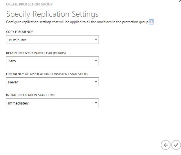 Replication settings
