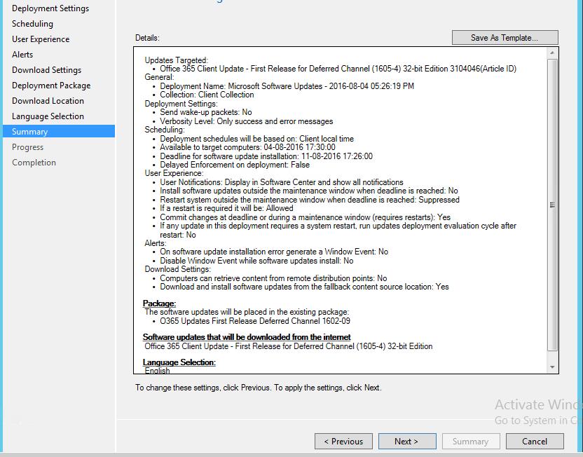Managing Office 365 Updates with SCCM 1603 | kartikkopalle