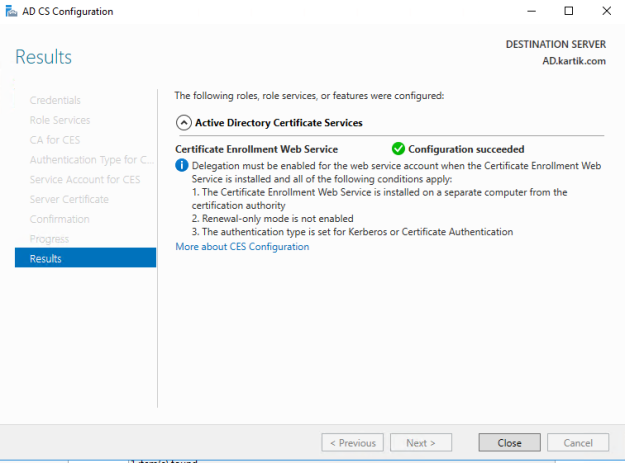 Installing Root Certificate Authority and Creating SCOM